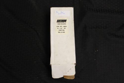 """-New- Schroeder SS-1.5-100 Suction Strainer Filter Element 1-1/2"""" NPT 30 GPM"""