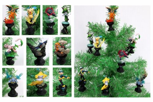 Pokemon Christmas Ornaments 10 Piece Set  Featuring Pikachu **Brand New**