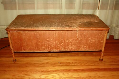 "Vintage Bamboo leg Storage Trunk Chest Decorative Accent Piece 41"" x 19"" x 26""h"