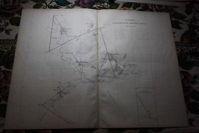 1885 Stich Bergbau Landkarte Cheshire Harz Grund Zellerfeld Lautenthal Wildemann