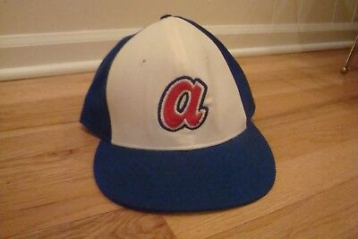 VTG Atlanta Braves Roman Pro New Era 7 5/8 hat cap 1974 panel retro 70s 80s  - Roman Hat