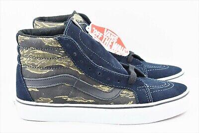 Vans SK8 Hi Reissue Mens Size 7.5 Skate Shoes Womens Size 9 Vintage Camo Navy