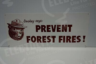 SMOKEY THE BEAR STEEL ENAMEL THICK BOUNDARY LAND MARKER HUNTING FISHING SIGN