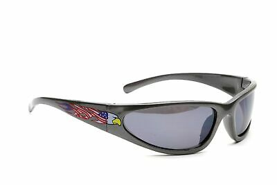 Men's Wrap-Around American Eagle Designer Fashion Gun Metal Frame (American Eagle Sunglasses)