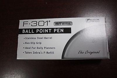 Zebra F-301 Black Ballpoint Pens Dozen 12 Pack 0.7mm Brand New F301 Ball Point