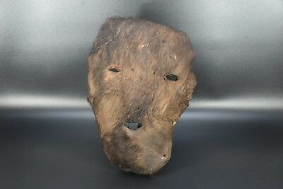 Original Antique Ritual Tantric Shaman Mask High Age Leather Mask From Nepal 10""
