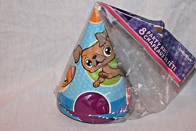 NEW IN PACKAGE LITTLEST PET SHOP 8 PARTY HATS  PARTY SUPPLIES   (Littlest Pet Shop Party Supplies)