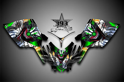 Arctic Cat M7 M8 M1000 Crossfire 05-11 Graphics Decal Wrap kit Evil Joker Green