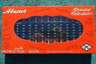 Oriental Calculator VINTAGE ABACUS Math Instruction Guide Book Sealed in Box