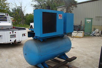 Leroi 30ss 25 Hp Electric Rotary Screw Air Compressor 250 Gallon Horizontal Tank