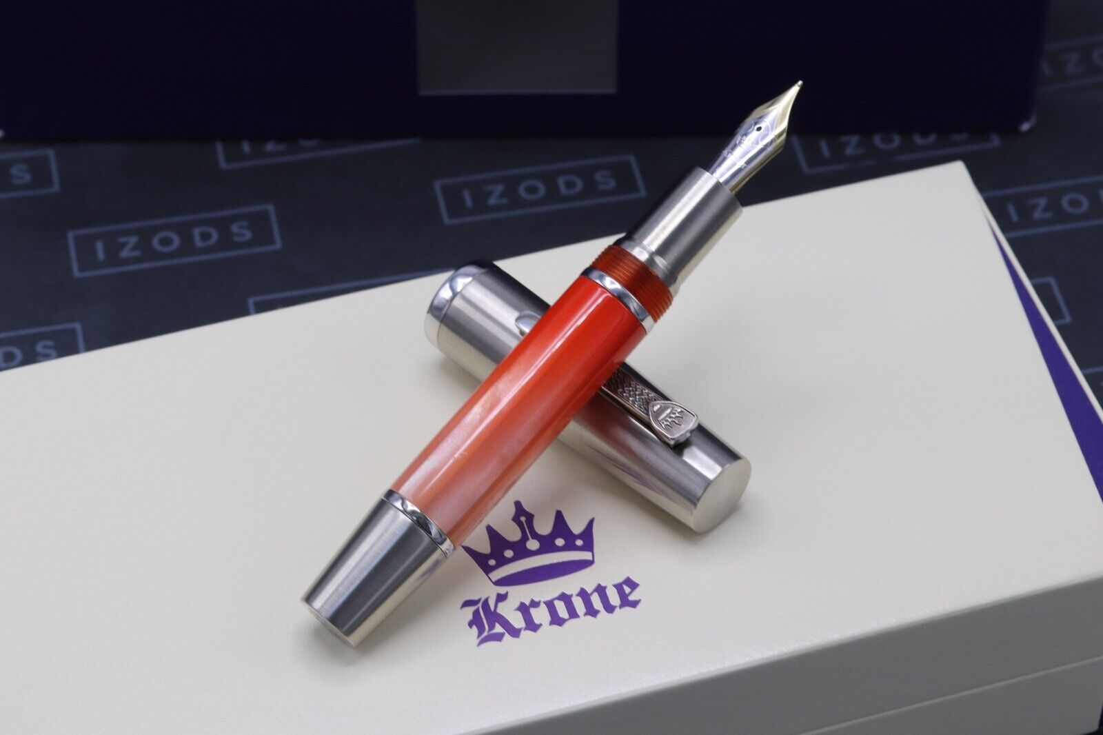 Krone Gradient Coral Red Limited Edition Fountain Pen 1