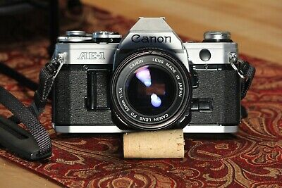 Canon AE-1 35mm SLR Film Camera with Canon FD 50mm F1.4 Lens Kit