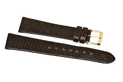 18MM BROWN GENUINE LIZARD  LEATHER WATCH BAND STRAP Brown Genuine Lizard Strap