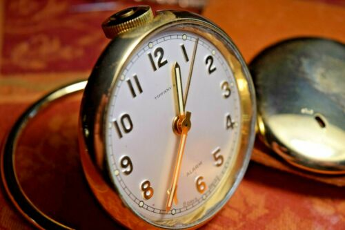 Tiffany & Co. Travel Alarm Clock, 15 Swiss Jewel Movement