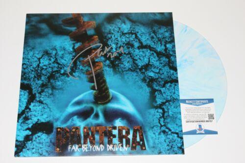 PANTERA PHIL ANSELMO SIGNED 'FAR BEYOND DRIVEN' ALBUM VINYL RECORD BECKETT COA