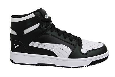 Puma Rebound LayUp SL Black White Lace Up Hi Top Mens Trainers 369573 01