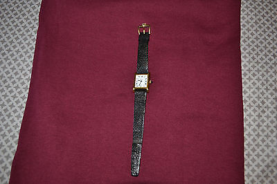 Ladies Vintage Cartier Gold Plated Manual Wind Tank Watch Excellent Condition