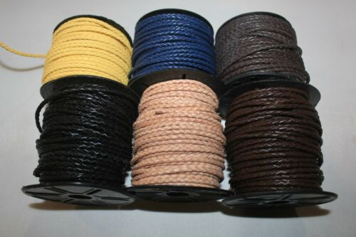 2.5mm - Genuine Round Braided Bolo Leather Cord - 2 Yards to 10 Yards