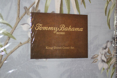 (TOMMY BAHAMA NEWPORT (SILVER BLUE) KING DUVET COVER SET 3 PC W/KING SHAMS  )