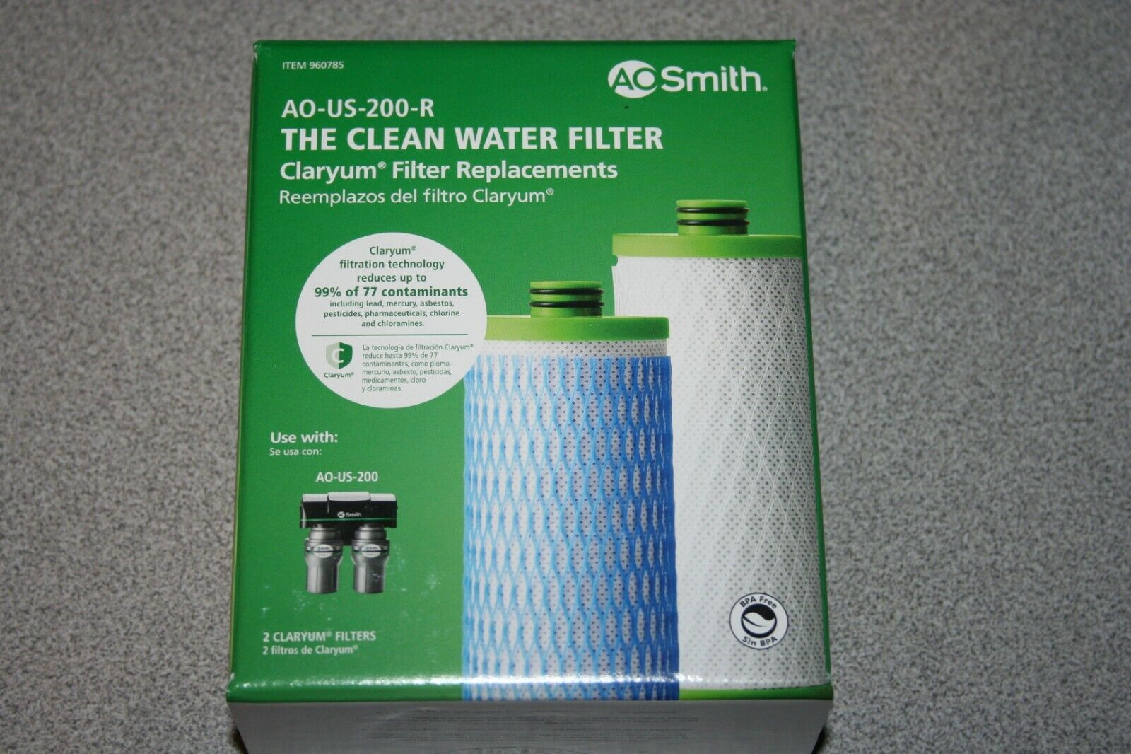 AO Smith AO-US-200-R The Clean Water Filter Replacements Claryum NEW