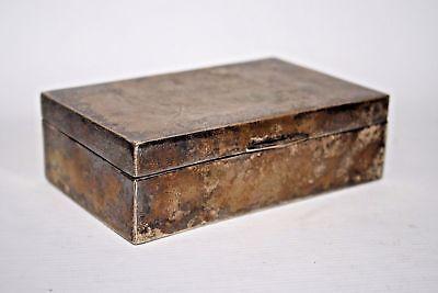 Vintage Silver Plated Jewellery Display Box Burma Bullock Cart Fast & Free P&P
