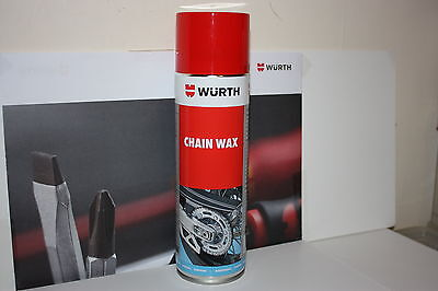 Wurth High Performance Motorcycle Chain Wax 500ml Can NEW.