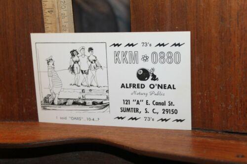Vintage QSL Card  Alfred O
