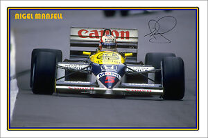 NIGEL-MANSELL-Large-signed-autograph-poster-of-Formula-1-world-champ