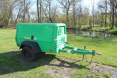 2008 Ingersoll Rand P185wjd Air Compressor 185 Cfm Towable Only 1605 Hours