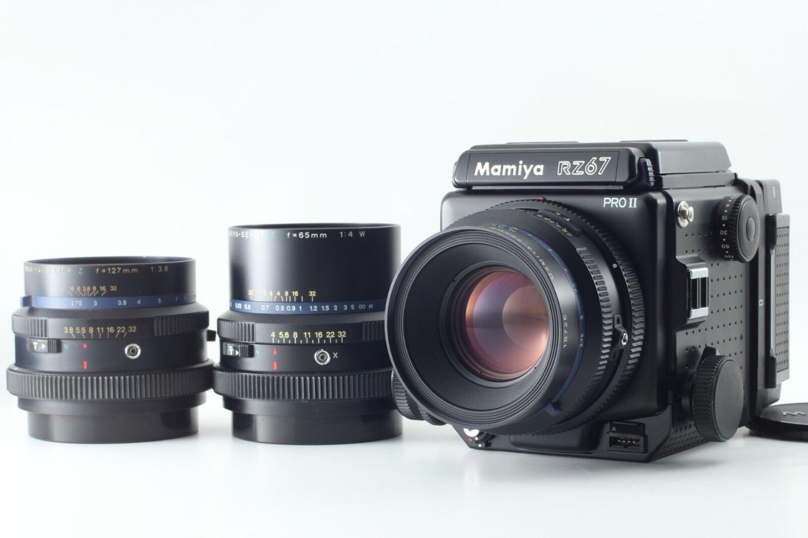 Near MINT Mamiya RZ67 Pro II w/ Sekor Z 65mm 110mm 127mm 3 Lens From JAPAN 649