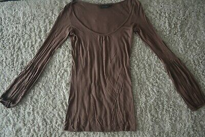 Blouse/T-shirt longues manches brun - taille 34/36