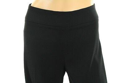 Fuzzi Women's Dress Pants Black Trousers Wide Leg Size 46 (8 US) Retail $610