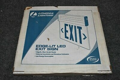 Lithonia Lighting Edg Aluminum Led Red Emergency Exit Sign Edge-lit 144ff1