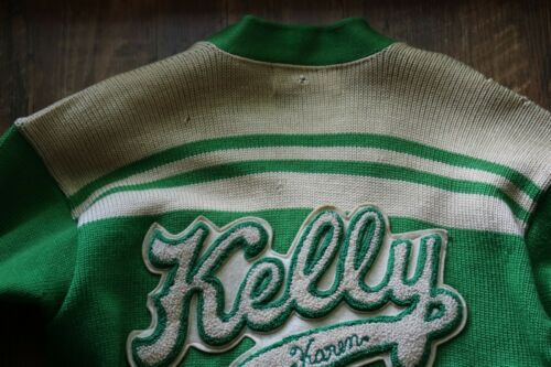 VINTAGE THOMAS KELLY HIGH SCHOOL GIRLS WOOL LETTER SWEATER   CHICAGO IL