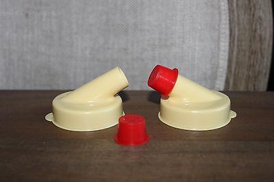 LOT of 10 NEW Glass Milk Bottle Pour Spout Cap](Glass Milk Bottle)