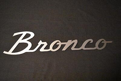Ford Broncos Logo Metal Art - Brushed steel