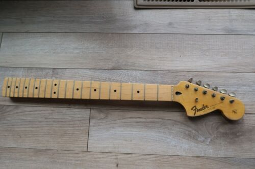 1966 custom stratocaster reissue maple neck is squire by fender strat w/ tuners