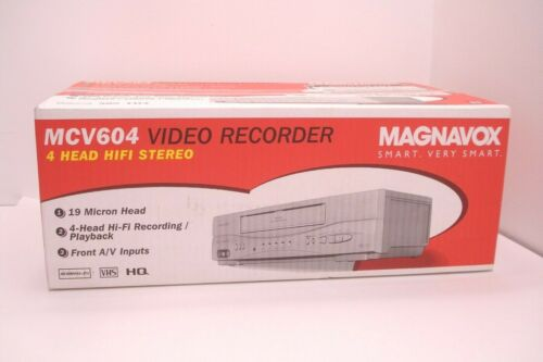 Magnavox MCV604 Stereo 4 Head Hi-Fi Video Cassette Recorder VCR Factory Sealed ✅
