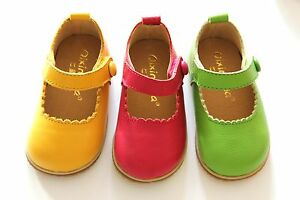 Toddler-Baby-Girl-Shoes-kids-Mary-Jane-flats-dress-Genuine-Leather-SZ4-5-6-7-8-9