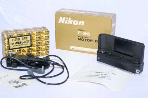 Vintage Nikon F-36 motor drive MINT- with Pistol Grip & Instructions for Nikon F