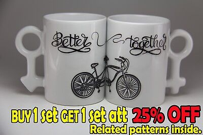 Valentine's Day GIFT Matching Couple coffee Mug Set. Better together. Couple