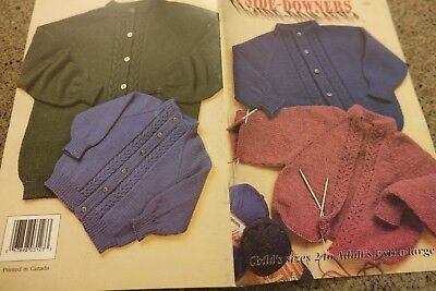 Patons Knitting Pattern Book 718 Upside-Downers  Top Down Cardigans sz 2 to (Patons Knit Patterns)