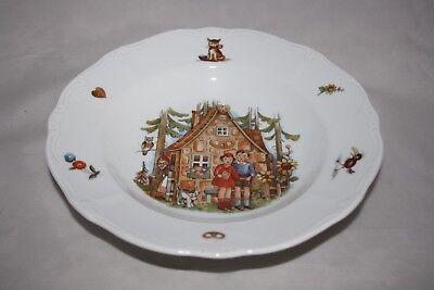 Hänsel und Gretel Suppenteller Weimar Porzellan 22cm Grimms Märchen  1.Wahl