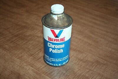 Vintage Valvoline Chrome Polish 12oz Can Tin Cone Top Empty Part # 885 See Pix!!