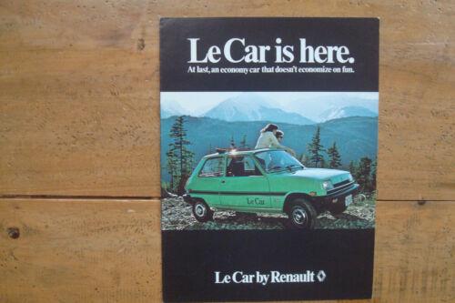 1979 Renault LeCar Is Here Brochure.