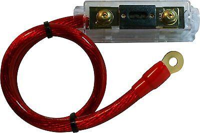 150 AMP ANL Fuse Holder fuseholder INLINE Block BATTERY INSTALL KIT 0 GAUGE 2 FT ()
