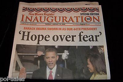 Special New Haven Register 44Th President Elect Barack Obama Newpaper 1 20 2009