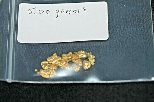 GOLD NUGGETS 5.00 GRAM, ALASKAN NATURAL PLACER # 6, HI PURITY,  *LOW SHIPPING*.
