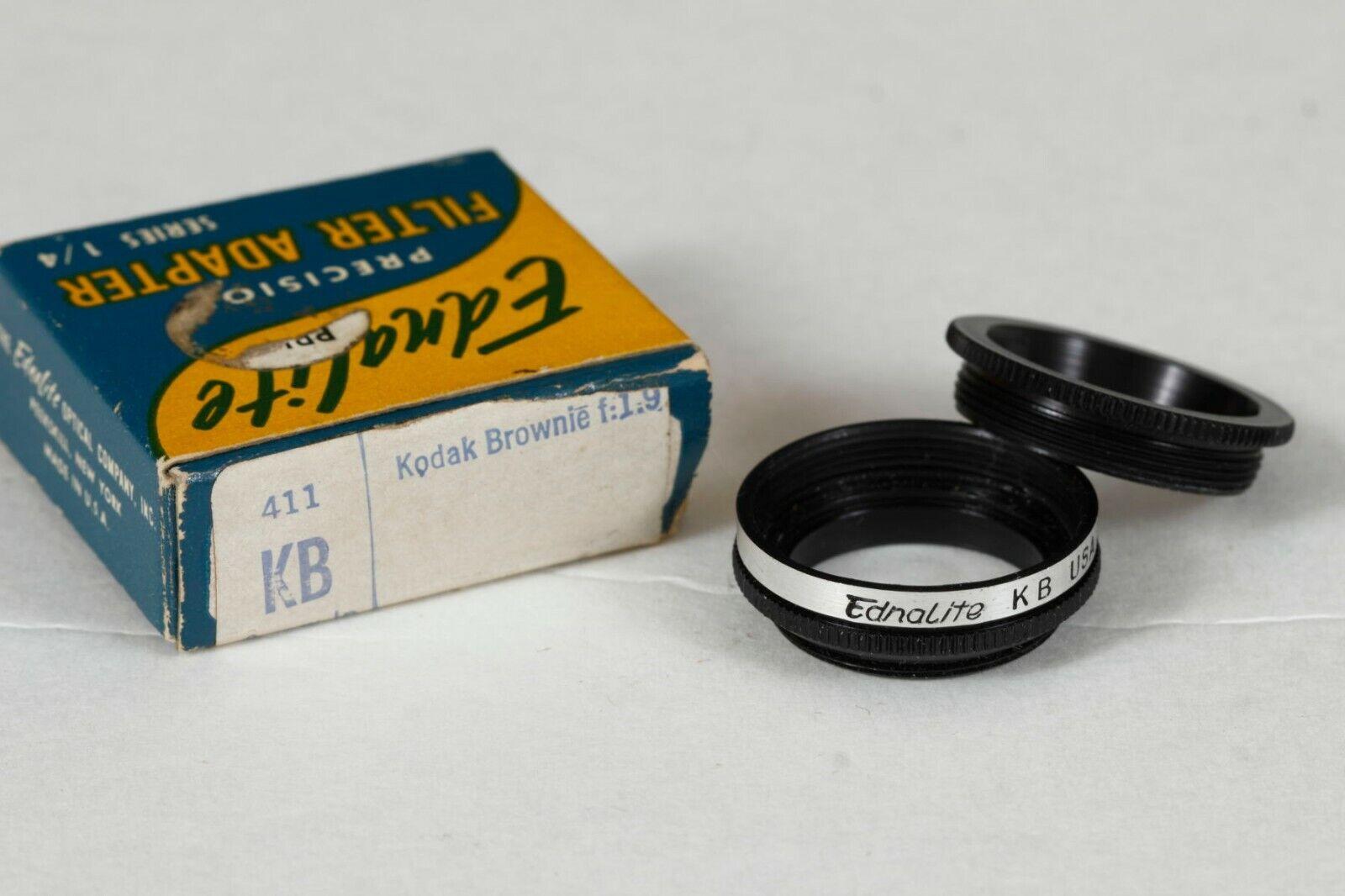 Ednalite 411 KB Series 1/4 Screw-in Adapter For Kodak Brownie - $14.75