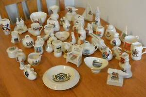 Job Lot Collection Of 50 Vintage Crested Ware Pieces Goss etc